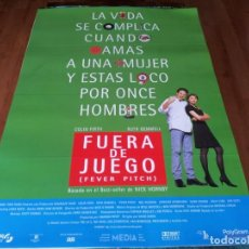 Cine: FUERA DE JUEGO - COLIN FIRTH, RUTH GEMMELL, NEAL PEARSON, MARK STRONG - POSTER ORIGINAL SOGEPAQ 1997. Lote 237561755