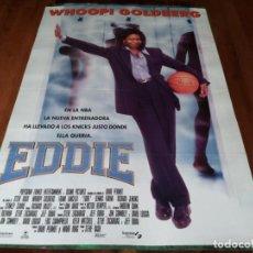 Cine: EDDIE - WHOOPI GOLDBERG, FRANK LANGELLA,DENNIS FARINA,RICHARD JENKINS - POSTER ORIGINAL SOGEPAQ 1996. Lote 237562175