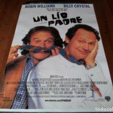 Cine: UN LIO PADRE - ROBIN WILLIAMS, BILLY CRYSTAL, NASTASSJA KINSKI - POSTER ORIGINAL WARNER AÑO 1997. Lote 237563280