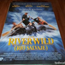 Cine: RÍO SALVAJE RIVER WILD - MERYL STREEP, KEVIN BACON, DAVID STRATHAIRN - POSTER ORIGINAL U.I.P 1994. Lote 237563835