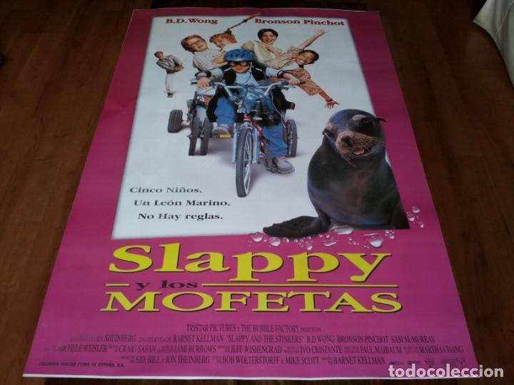 SLAPPY Y LOS MOFETAS - BD WONG, BRONSON PINCHOT, SAM MCMURRAY - POSTER ORIGINAL COLUMBIA 1997 (Cine - Posters y Carteles - Infantil)