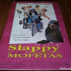 Cine: SLAPPY Y LOS MOFETAS - BD WONG, BRONSON PINCHOT, SAM MCMURRAY - POSTER ORIGINAL COLUMBIA 1997. Lote 237564685