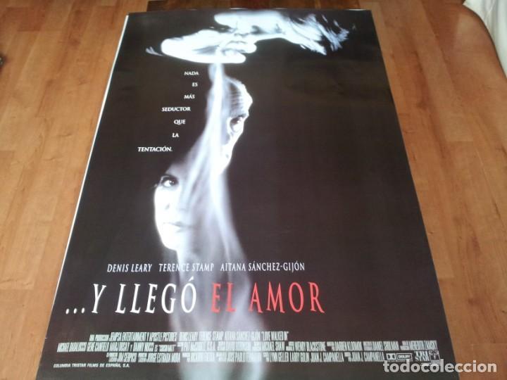 ..Y LLEGÓ EL AMOR - DENIS LEARY, TERENCE STAMP, AITANA SÁNCHEZ-GIJÓN - POSTER ORIGINAL COLUMBIA 1997 (Cine - Posters y Carteles - Suspense)