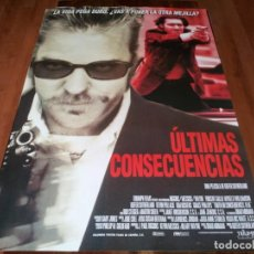 Cine: ÚLTIMAS CONSECUENCIAS - KIEFER SUTHERLAND, VINCENT GALLO, MARTIN SHEEN - POSTER ORIGINAL 1998. Lote 237566385