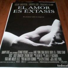 Cine: EL AMOR ES ÉXTASIS - CRAIG SHEFFER, SHERYL LEE, TERENCE STAMP - POSTER ORIGINAL COLUMBIA 1997. Lote 237567265
