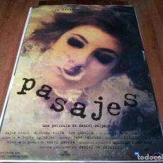 Cine: PASAJES - NAJWA NIMRI, CHARO LÓPEZ, ALFREDO VILLA, ION GABELLA - POSTER ORIGINAL WARNER 1996. Lote 237567610