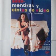 Cinema: ANTIGUO CARTEL CINE SEXO, MENTIRAS Y CINTAS DE VIDEO + 10 FOTOCROMOS CANNES 1989 CC360 RV. Lote 237588935