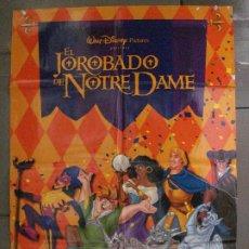 Cine: CDO 8603 EL JOROBADO DE NOTRE DAME WALT DISNEY POSTER ORIGINAL 70X100 ESTRENO. Lote 237707130