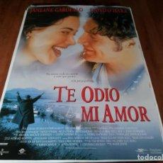 Cine: TE ODIO, MI AMOR - JANEANE GAROFALO, DAVID O'HARA, DENIS LEARY - POSTER ORIGINAL WARNER 1997. Lote 237737365