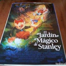 Cine: EL JARDÍN MÁGICO DE STANLEY - ANIMACION - DIR. DON BLUTH - POSTER ORIGINAL WARNER 1994. Lote 237749585
