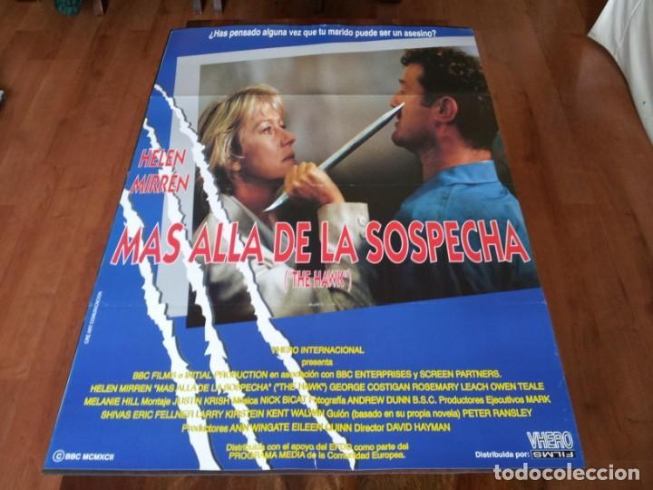 MAS ALLA DE LA SOSPECHA - HELEN MIRREN, GEORGE COSTIGAN - POSTER ORIGINAL VHERO 1993 (Cine - Posters y Carteles - Suspense)