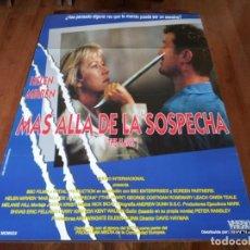 Cine: MAS ALLA DE LA SOSPECHA - HELEN MIRREN, GEORGE COSTIGAN - POSTER ORIGINAL VHERO 1993. Lote 237752090