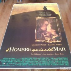 Cine: EL HOMBRE QUE VINO DEL MAR - VINCENT PÉREZ,RACHEL WEISZ,IAN MCKELLEN - POSTER ORIGINAL COLUMBIA 1997. Lote 237753340