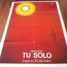 Cine: TÚ SOLO - JOSÉ MORATALLA, LUCIO SANDÍN, EL CHINO TORERO - POSTER ORIGINAL CB FILMS 1984 TOROS. Lote 237753750