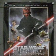 Cine: E2085 LA AMENAZA FANTASMA 3D GUERRA DE LAS GALAXIAS STAR WARS 3D POSTER ORIGINAL 70X100 ESPAÑOL. Lote 288958553