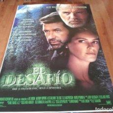 Cine: EL DESAFÍO - ANTHONY HOPKINS, ALEC BALDWIN, ELLE MACPHERSON - POSTER ORIGINAL FOX 1997. Lote 237920970