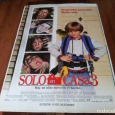 Cine: SOLO EN CASA 3 - ALEX D. LINZ, OLEK KRUPA, RYA KIHLSTEDT - POSTER ORIGINAL FOX 1997. Lote 237927360