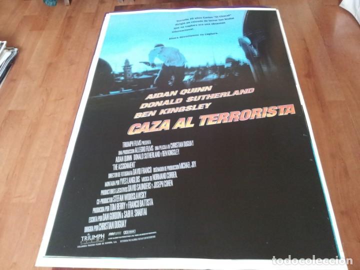 CAZA AL TERRORISTA - AIDAN QUINN, BEN KINGSLEY, DONALD SUTHERLAND - POSTER ORIGINAL COLUMBIA 1997 (Cine - Posters y Carteles - Acción)