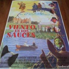 Cine: VIENTO EN LOS SAUCES - STEVE COOGAN, ERIC IDLE, TERRY JONES - POSTER ORIGINAL COLUMBIA AÑO 1996. Lote 237936165