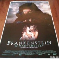Cine: FRANKENSTEIN DE MARY SHELLEY - ROBERT DE NIRO, KENNETH BRANAGH - POSTER ORIGINAL COLUMBIA 1994. Lote 237936515