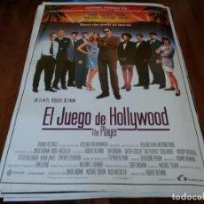 Cine: EL JUEGO DE HOLLYWOOD THE PLAYER - TIM ROBBINS,GRETA SCACCHI,R. ALTMAN - POSTER ORIGINAL LAUREN 1992. Lote 237938045