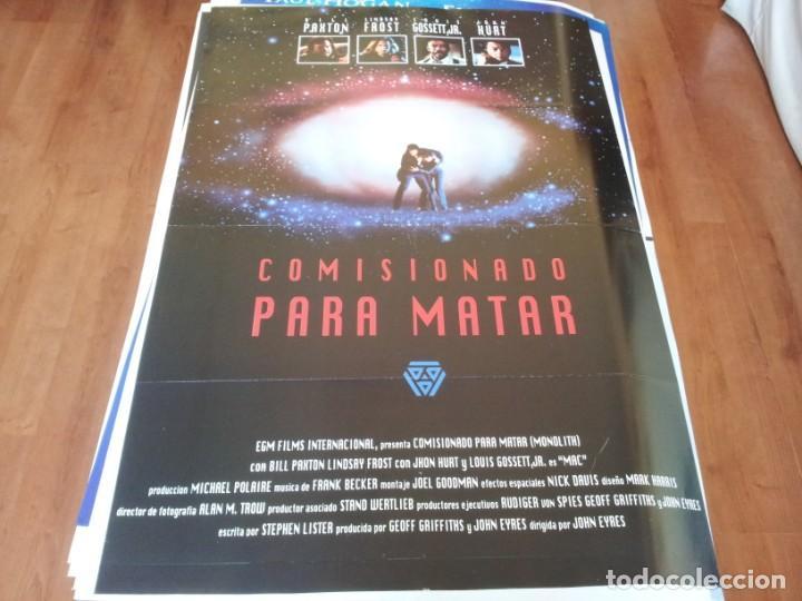 COMISIONADO PARA MATAR - BILL PAXTON, LINDSAY FROST, JOHN HURT - POSTER ORIGINAL EGM 1993 (Cine - Posters y Carteles - Acción)