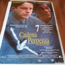 Cine: CADENA PERPETUA - TIM ROBBINS, MORGAN FREEMAN, WILLIAM SADLER - POSTER ORIGINAL FILMAYER 1994. Lote 238110960