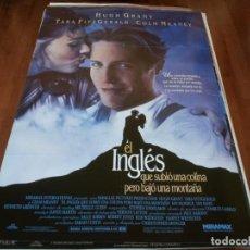 Cine: EL INGLÉS QUE SUBIÓ UNA COLINA PERO BAJÓ UNA MONTAÑA - HUGH GRANT - POSTER ORIGINAL AÑO 1995. Lote 238112205