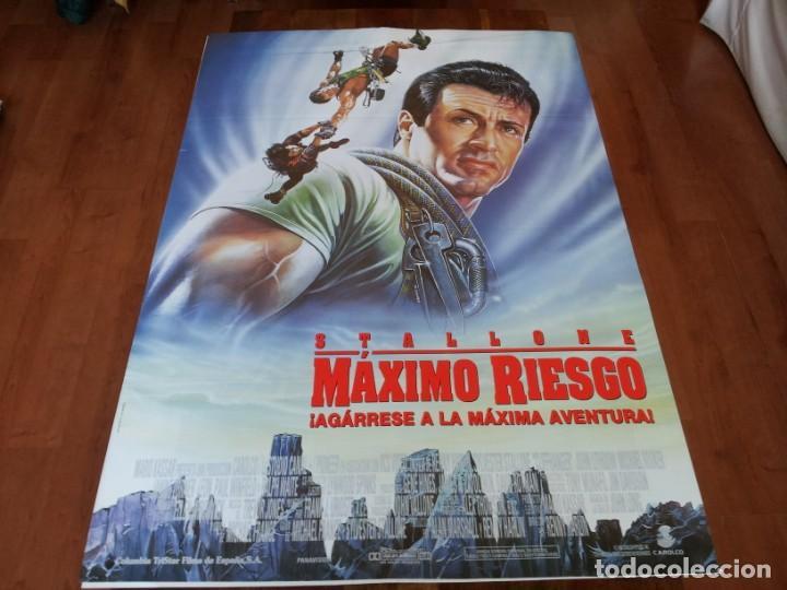 MAXIMO RIESGO - SYLVESTER STALLONE, JOHN LITHGOW - POSTER ORIGINAL COLUMBIA 1993 (Cine - Posters y Carteles - Suspense)