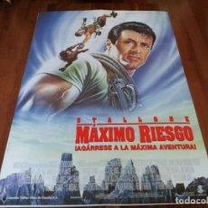 Cine: MAXIMO RIESGO - SYLVESTER STALLONE, JOHN LITHGOW - POSTER ORIGINAL COLUMBIA 1993. Lote 238120070