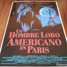 Cine: UN HOMBRE LOBO AMERICANO EN PARÍS - TOM EVERETT SCOTT, JULIE DELPY - POSTER ORIGINAL COLUMBIA 1998. Lote 238311695