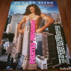 Cine: PARTES PRIVADAS - HOWARD STERN, ROBIN QUIVERS, MARY MCCORMACK - POSTER ORIGINAL COLUMBIA 1997. Lote 238313200
