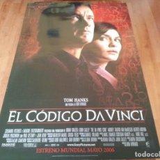 Cine: EL CÓDIGO DA VINCI - TOM HANKS, AUDREY TAUTOU, IAN MCKELLEN, JEAN RENO - POSTER ORIGINAL SONY 2006. Lote 238313965