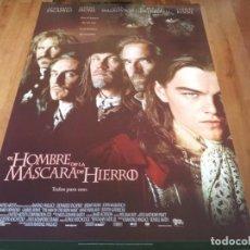 Cine: EL HOMBRE DE LA MÁSCARA DE HIERRO - LEONARDO DICAPRIO, GABRIEL BYRNE - POSTER ORIGINAL U.I.P 1998. Lote 238314700