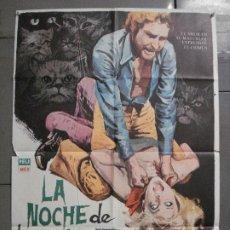 Cine: CDO 8634 LA NOCHE DE LOS MIL GATOS RENE CARDONA TERROR POSTER ORIGINAL 70X100 ESTRENO. Lote 238438555