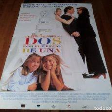 Cine: DOS POR EL PRECIO DE UNA - KIRSTIE ALLEY, STEVE GUTTENBERG - POSTER ORIGINAL AURUM 1995. Lote 238464175