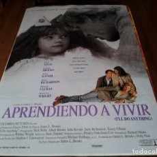 Cine: APRENDIENDO A VIVIR - NICK NOLTE, WHITTNI WRIGHT, ALBERT BROOKS - POSTER ORIGINAL COLUMBIA 1994. Lote 238466930