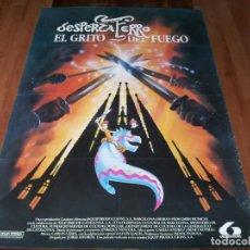 Cine: DESPERTAFERRO EL GRITO DEL FUEGO - ANIMACION - DIR. JORDI AMORÓS - POSTER ORIGINAL LAUREN 1990. Lote 238468685