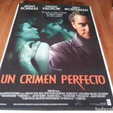 Cine: UN CRIMEN PERFECTO - MICHAEL DOUGLAS, GWYNETH PALTROW, VIGGO MORTENSEN - POSTER ORIGINAL WARNER 1998. Lote 238472960