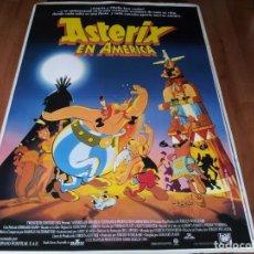 Cine: ASTÉRIX EN AMÉRICA - ANIMACION - POSTER ORIGINAL FOX 1994. Lote 238480485