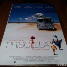 Cine: LAS AVENTURAS DE PRISCILLA - TERENCE STAMP, HUGO WEAVING, GUY PEARCE - POSTER ORIGINAL SOGEPAQ 1994. Lote 238484600