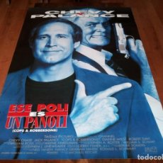 Cine: ESE POLI ES UN PANOLI - CHEVY CHASE, JACK PALANCE, DIANNE WIEST - POSTER ORIGINAL COLUMBIA 1994. Lote 238489725