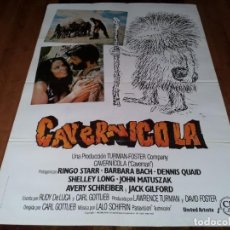 Cine: CAVERNÍCOLA - RINGO STARR, DENNIS QUAID, BARBARA BACH, SHELLEY LONG - POSTER ORIGINAL CB FILMS 1981. Lote 238496070