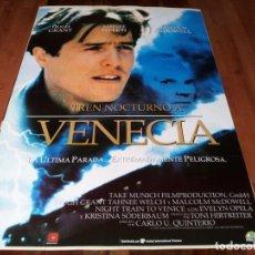 Cine: TREN NOCTURNO A VENECIA - HUGH GRANT, MALCOLM MCDOWELL, TAHNEE WELCH - POSTER ORIGINAL U.I.P 1996. Lote 238501395