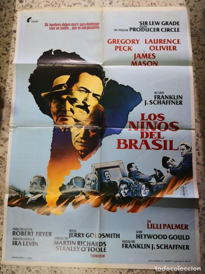 LOS NIÑOS DE BRASIL. CARTEL DE CINE - MOVIE POSTER (Cine - Posters y Carteles - Aventura)