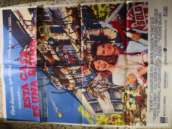CARTEL CINE POSTE ORIGINAL ESTA CASA ES UNA RUINA - RICHARD BENJAMIN - TOM HANKS - SHELLEY LONG - (Cine - Posters y Carteles - Comedia)