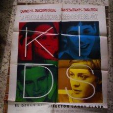 Cine: KIDS LARRY CLARK POSTER ORIGINAL 70X100 ESTRENO. Lote 238615475