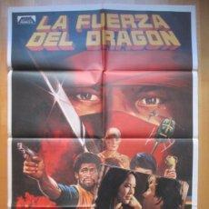 Cinema: CARTEL CINE + 10 FOTOCROMOS LA FUERZA DEL DRAGON BRUCE LEE CCF169. Lote 239399710