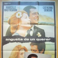 Cine: CARTEL CINE + 12 FOTOCROMOS ANGUSTIA DE UN QUERER MARCELLO MASTROIANNI 1972 CCF183. Lote 239410660