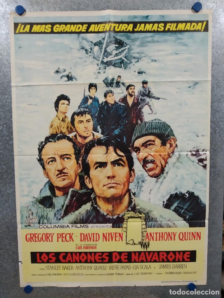 LOS CAÑONES DE NAVARONE. GREGORY PECK, DAVID NIVEN, RICHARD HARRIS AÑO 1961. POSTER ORIGINAL ESTRENO (Cine - Posters y Carteles - Bélicas)